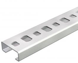 CL2008 profile rail, slot 11 mm, perforated, breakable