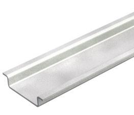 Hat profile rail, unperforated