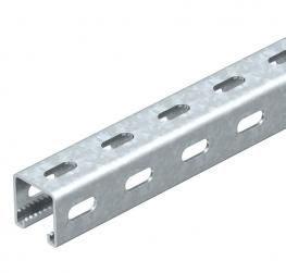 MS4141PP mounting rail, slot 22 mm, perforated FT