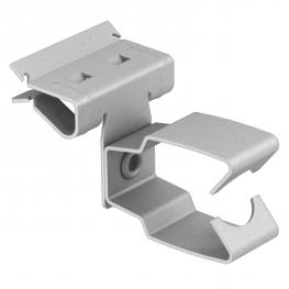 Support clamp, for pipes, open/side