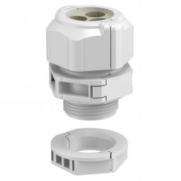 Separable cable gland, sealing insert, multiple, light grey