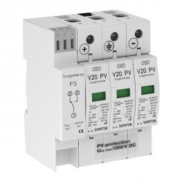 PV surge protection V20, 1000 V DC with remote signalling
