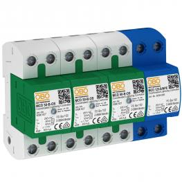Combination arrestor, 3-pole + NPE with function display