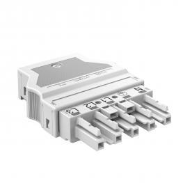 Socket section 5-pin, white