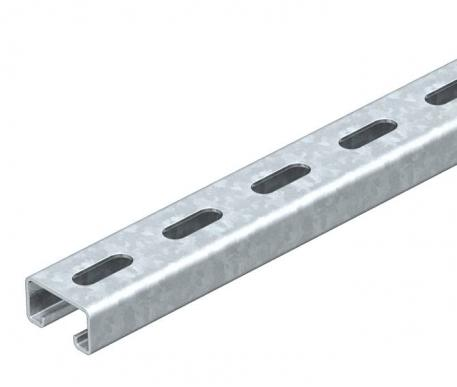 MS4121 mounting rail, slot 22 mm, FT, perforated