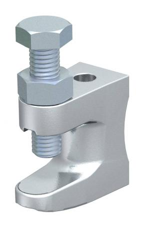 Screw-in beam clamp, with gland hole