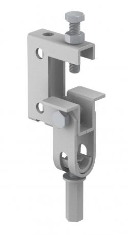 Screw-in beam clamp, with hinge
