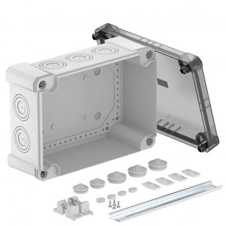 Junction box X 25 with hat profile rail