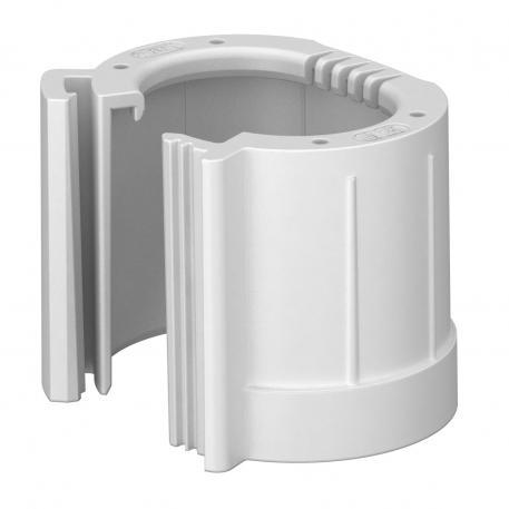 Pipe end cap, splittable, metric, light grey