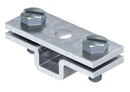 Spacer clip for flat conductor, with fastening hole Ø 7