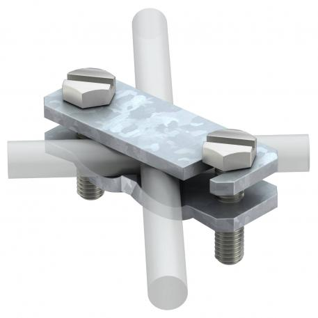 Diagonal clamp for flat conductors and round conductors FT