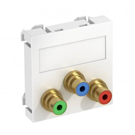 Component video connection, 1 module, straight outlet, as soldered connection