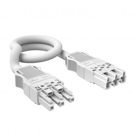 3-wire connection cable, PVC, cross-section 2.5 mm², white