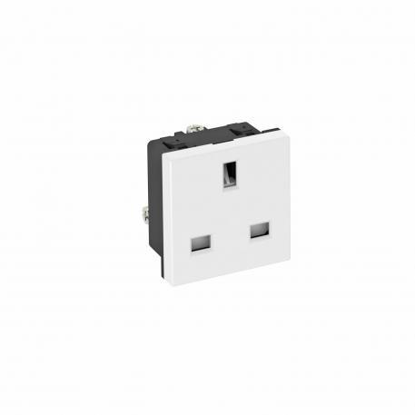 0° socket, British Standard, single
