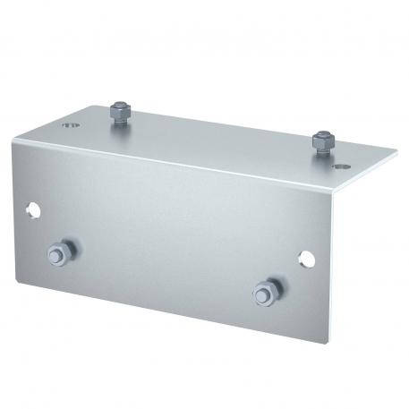 Lock plate for external corner