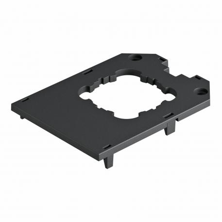 Cover plate for universal support UT4, round installation opening for EKR device